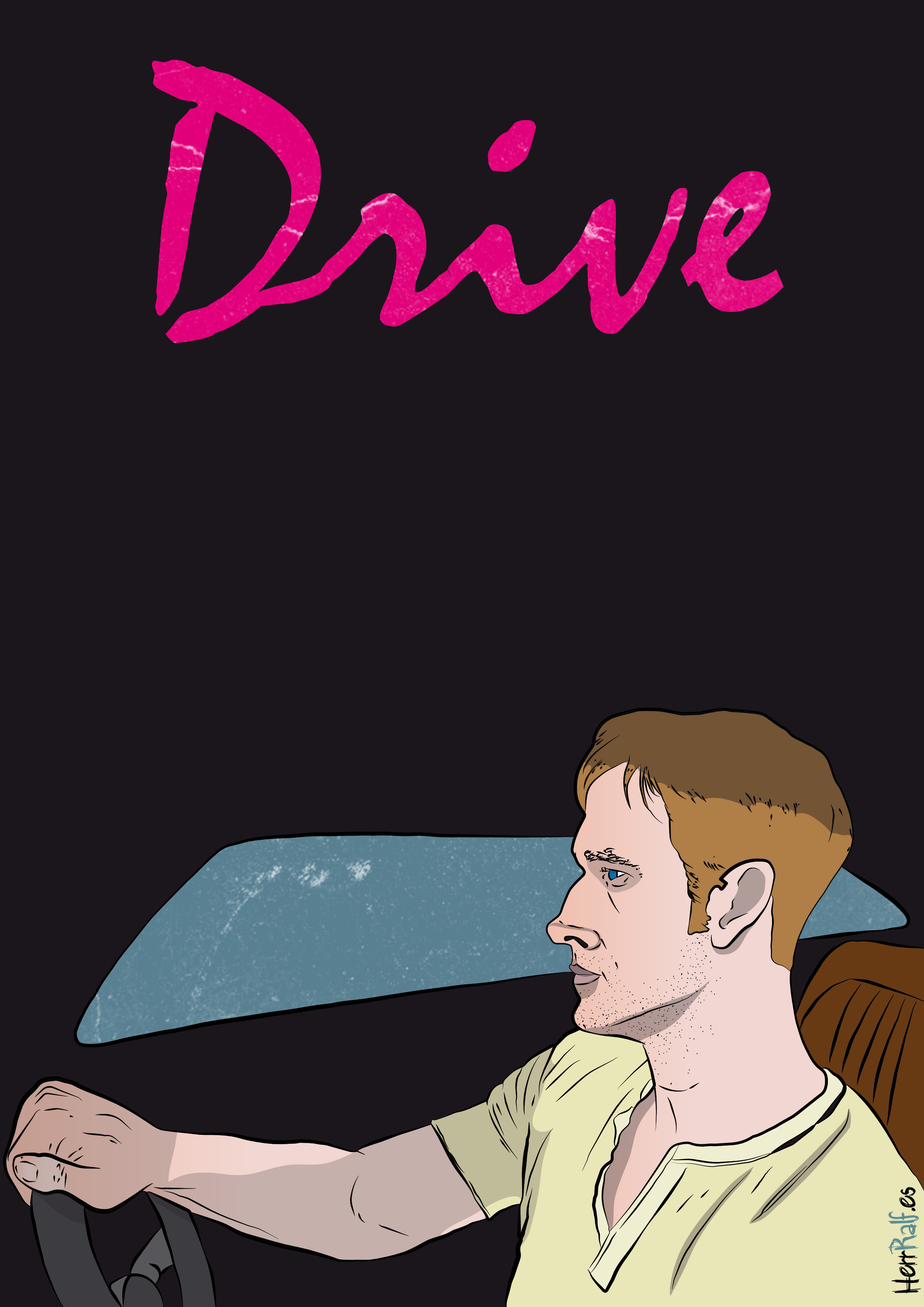 Illustrating a poster of the movie Drive (2011)
