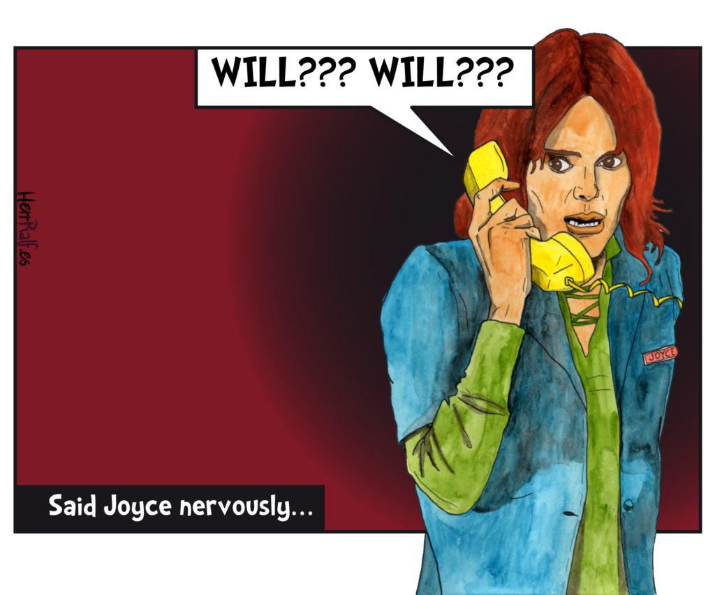 Stranger Things in a comic: Joyce.