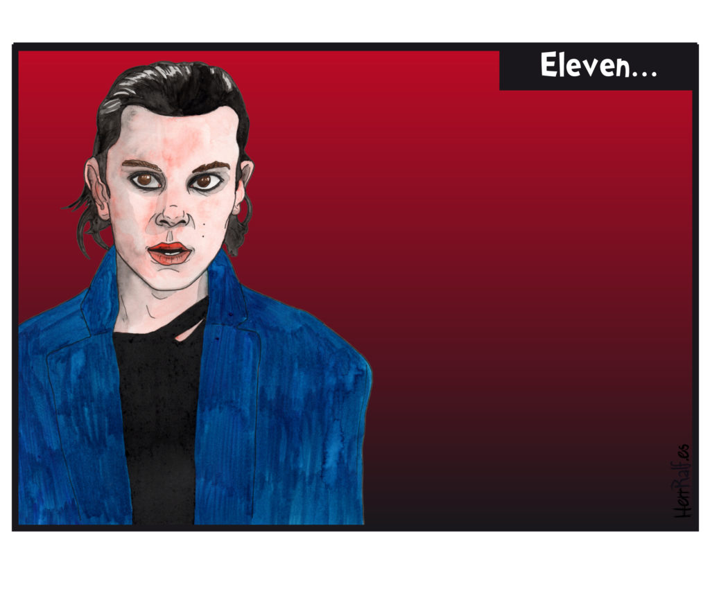Stranger Things in a comic: Eleven.