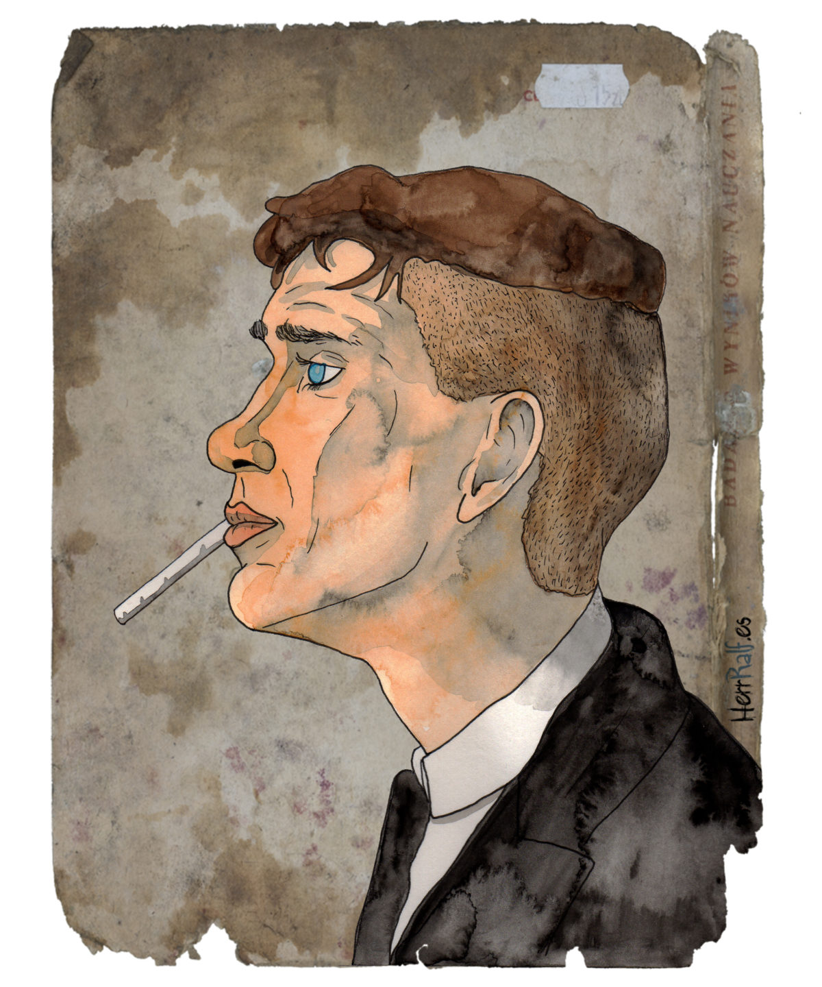 Thomas Shelby: Peaky Blinders illustrations