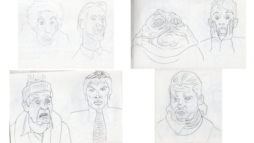Some sketches for the book. Self editing.