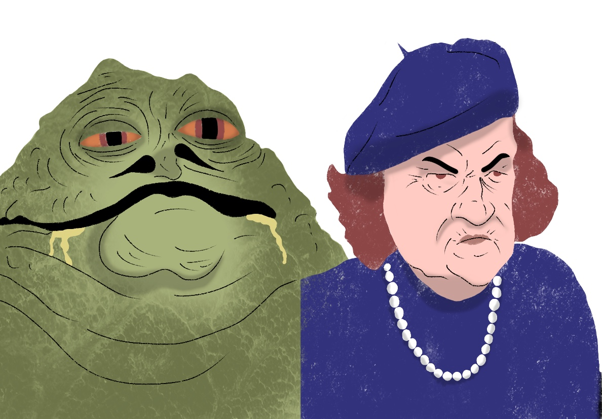 Jabba The Hutt and Mama Fratelli.