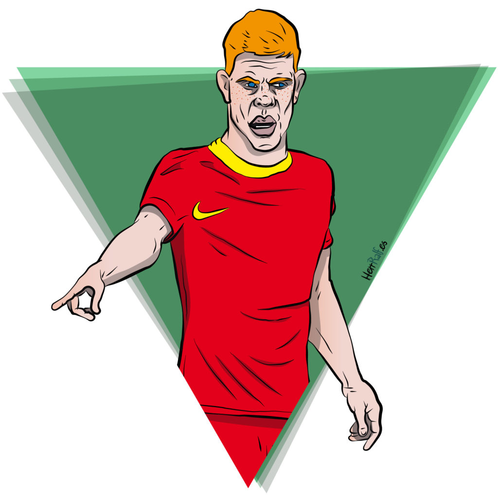 Kevin De Bruyne. Belgium. Digital Illustration.