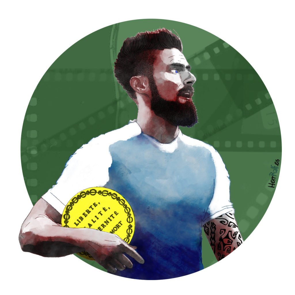 Olivier Giroud. France. Digital Illustration.