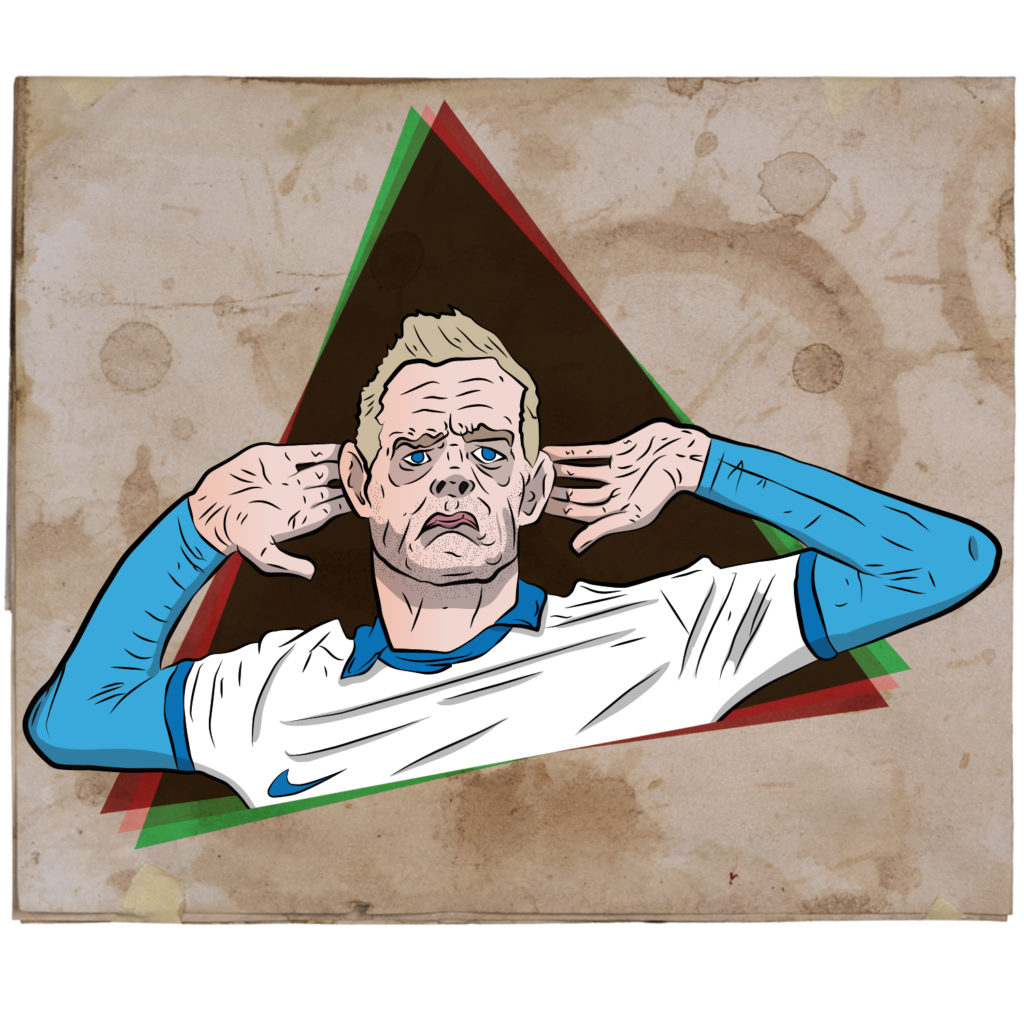 Jamie Vardy. England. Digital Illustration.