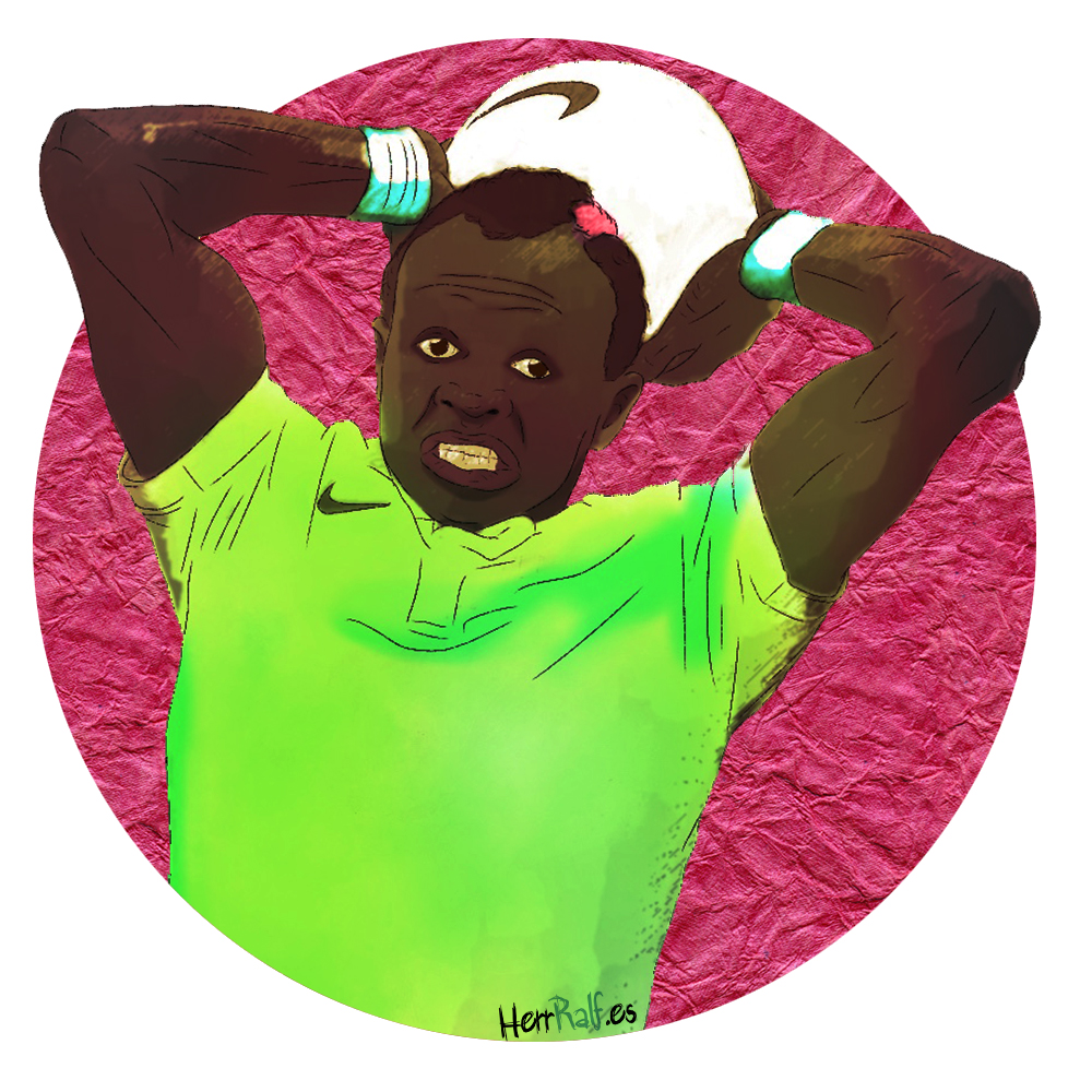 Sadio Mané. Senegal. Digital Illustration.