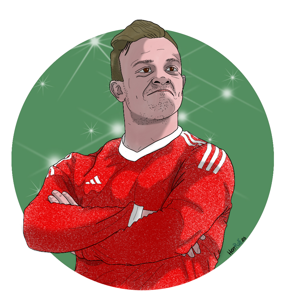 Xherdan Shaqiri. Switzerland. Digital Illustration.