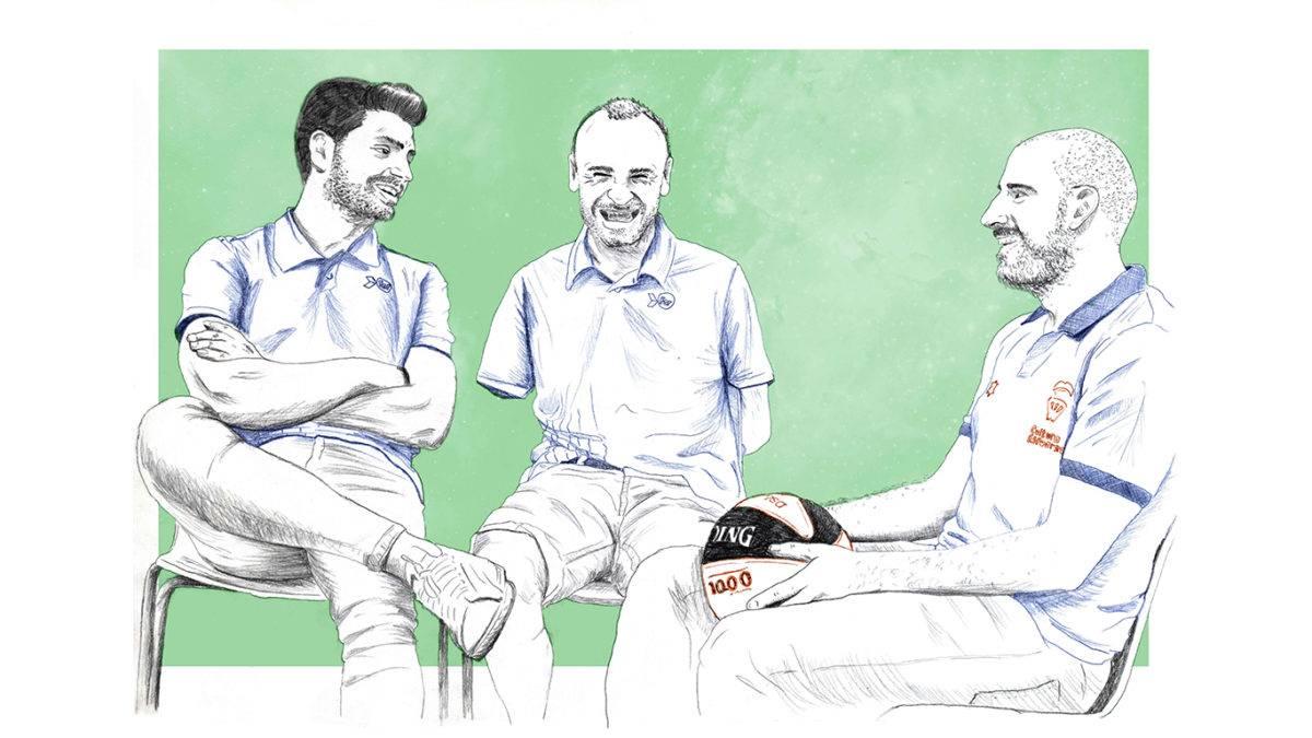 Final Illustration of the three athletes