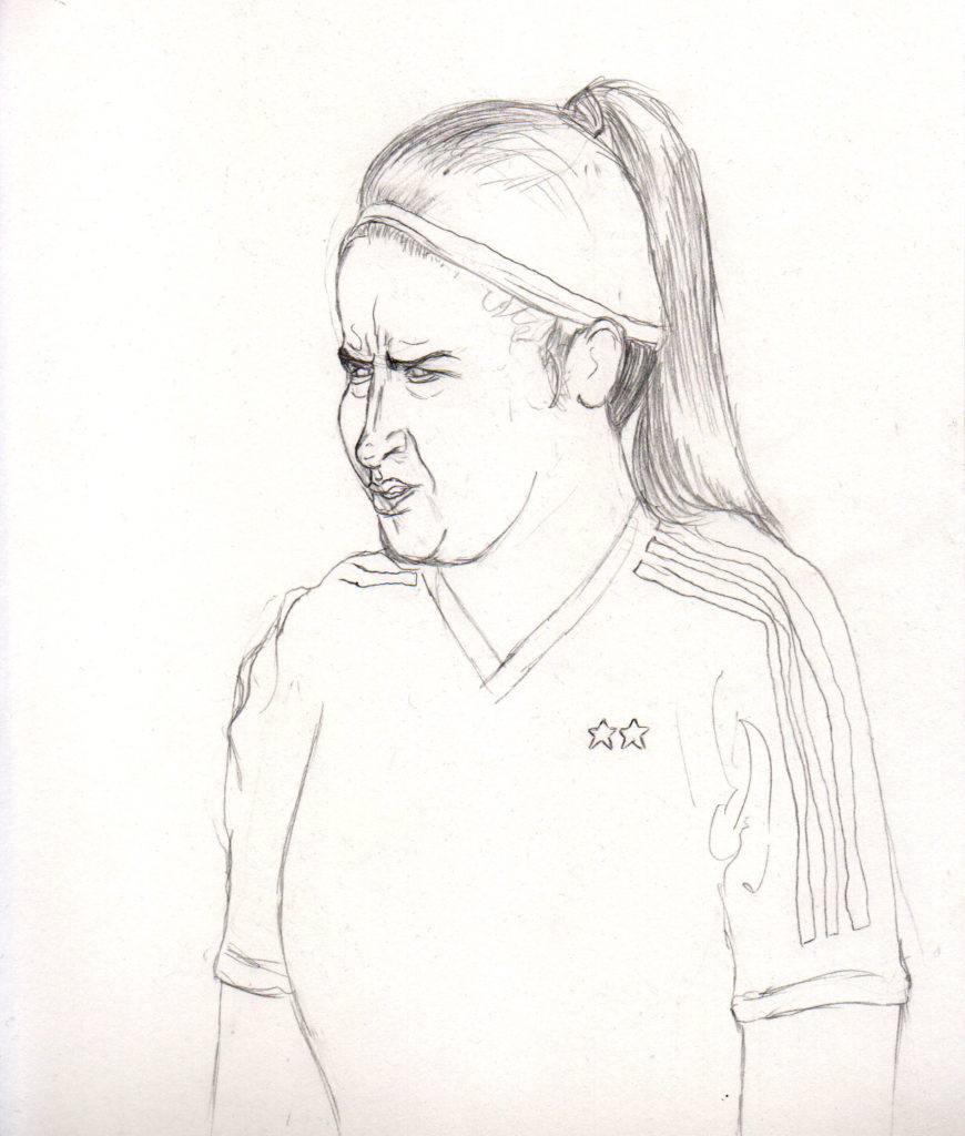 Gabriela Chávez. First sketch.