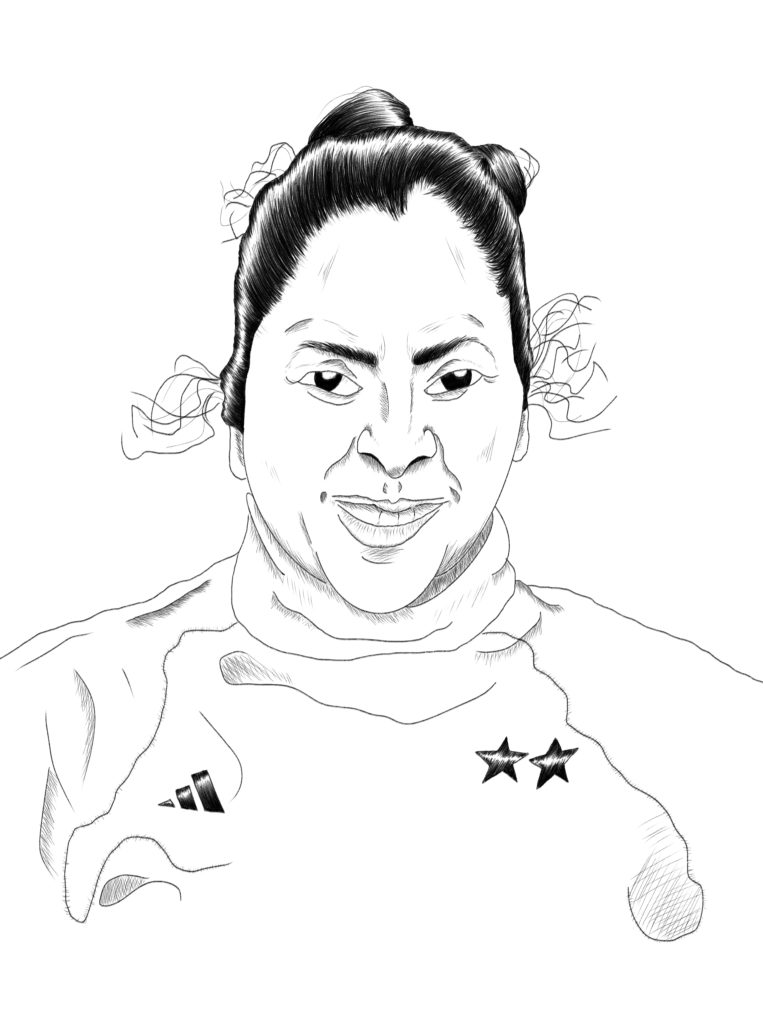 Gabriela Chávez. Final sketch.